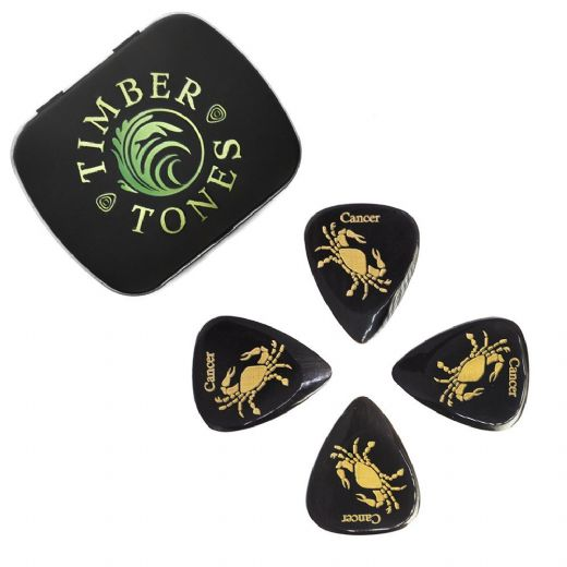 Zodiac Tones Cancer Tin of 4 Guitar Picks